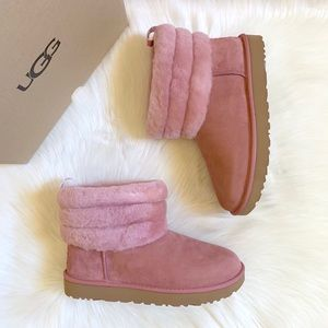 UGG Fluff Mini Quilted Pink Dawn Boots